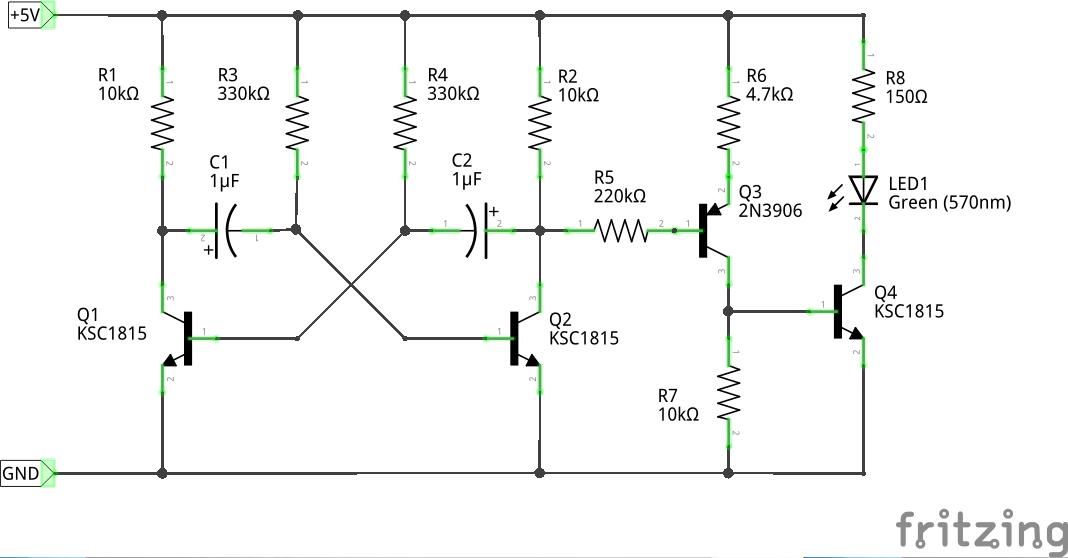 マルチバイブレータ−回路図