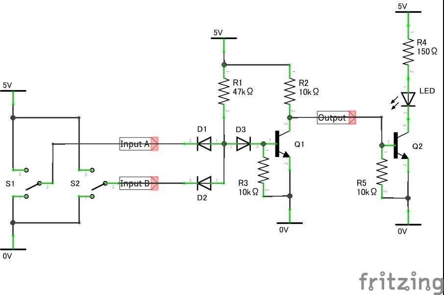 否定論理積_NAND_回路図